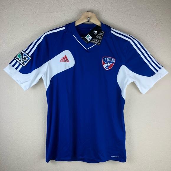 e78e0a21558 Adidas Climacool MLS Soccer FC Dallas Jersey